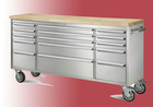 Heavy duty stainless steel 15 drawer workbench/rolling workbench with wheels with drawers