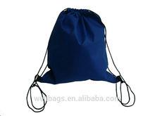210D/190T nylon reusable drawsting shopping bag