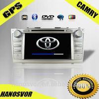 Hanosvor 8 inch Toyota camry car dvd usb port with gps