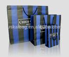 Custom design oem production paper shopping bag