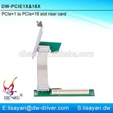 Factory direct sale mini pci express x16 adapter