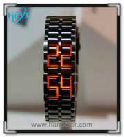 2015 New Fashionable Design and High Quality iron samurai lava led watch