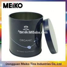 custom rectangular hinged lid tin box