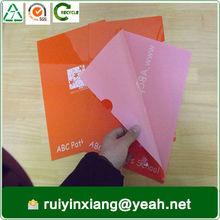 stationery manufacturer make a4 size pvc file cover decoration RYX-LF008