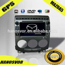 HANOSVOR Touch Screen Car GPS Navigation for Mazda 5 Car Radio Audio Player Multimedia