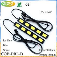 D Model DRL Car LED COB day time running light 9CM/12CM/15CM/18CM cob led day light car