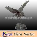 Animales de interior al aire libre de bronce esculturas búho ntbh- d147