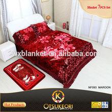 100% polyester Raschel 3D Blanket Bed Sheet Set from OTSU KEORI