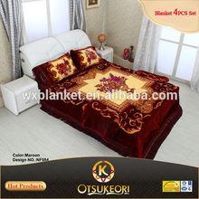Dubai 3D Bedsheet Set Produced By OTSU KEORI Blanket Factory