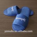 Confortable pantoufles hôtel bleu, anti statique