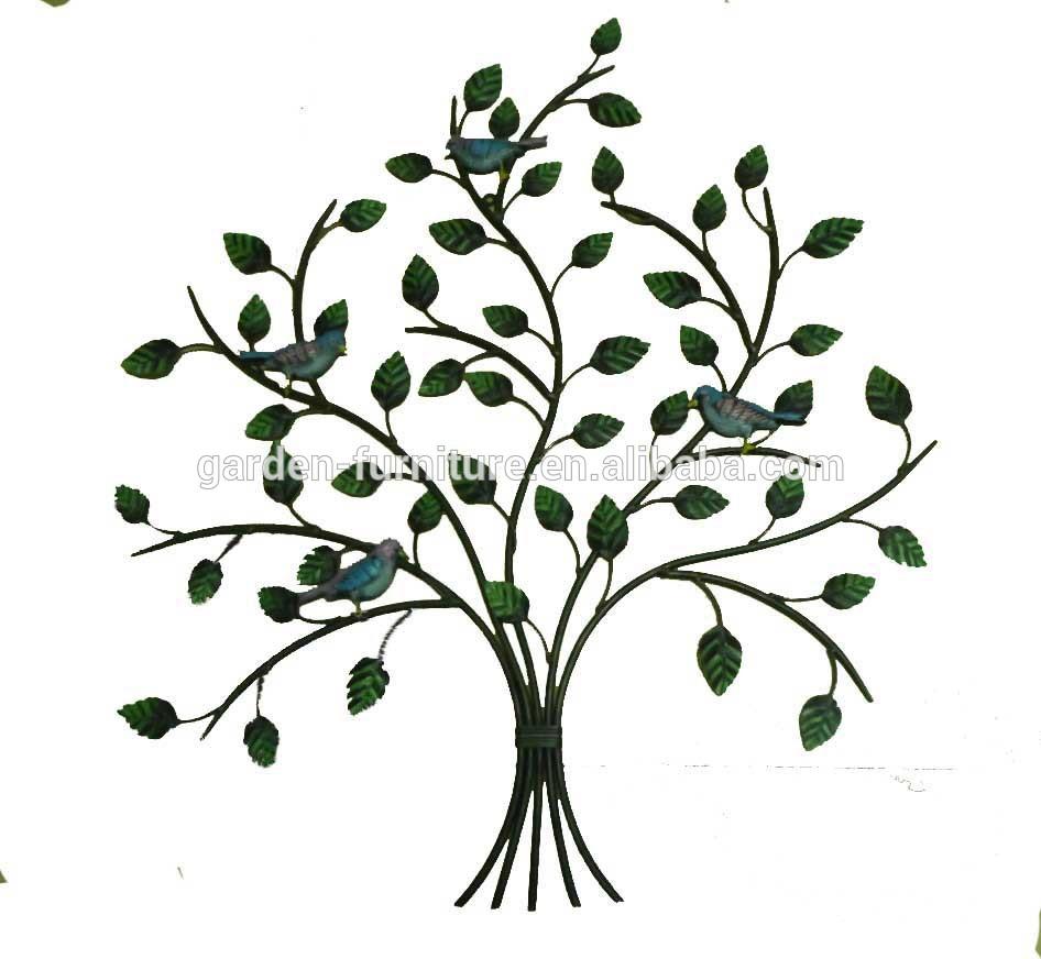 XY13472 iron tree wall art tree of life metal haning sculpture crafts ...