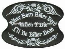 BIKER BORN BIKER BRED WHEN I DIE I'LL BE BIKER DEAD PATCH