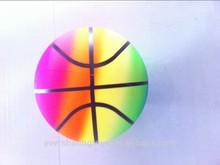 rainbow basketball/inflatable beach ball/ground PVC ball(EN71)
