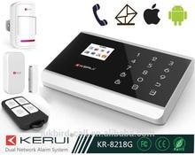 Hot sale!!! Fashion design, touch keypad GSM&PSTN Alarm host CE&ROHS KR-8218G