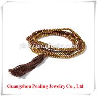 Wholesale hot sell crystal beads fashion 2014 bracelet macrame