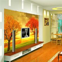 maple leaf pattern wallpaper gold leaf wallpaper european wallpaper for home decoration