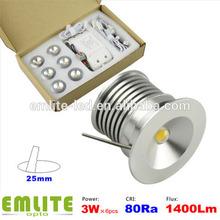 3 watt x 6pcs Temmokus series 3w min spotlight LED mini ceiling spots