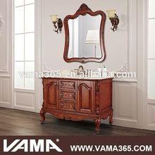 VAMA V-19885A wood single basin antique bathroom cabinet vanity unit