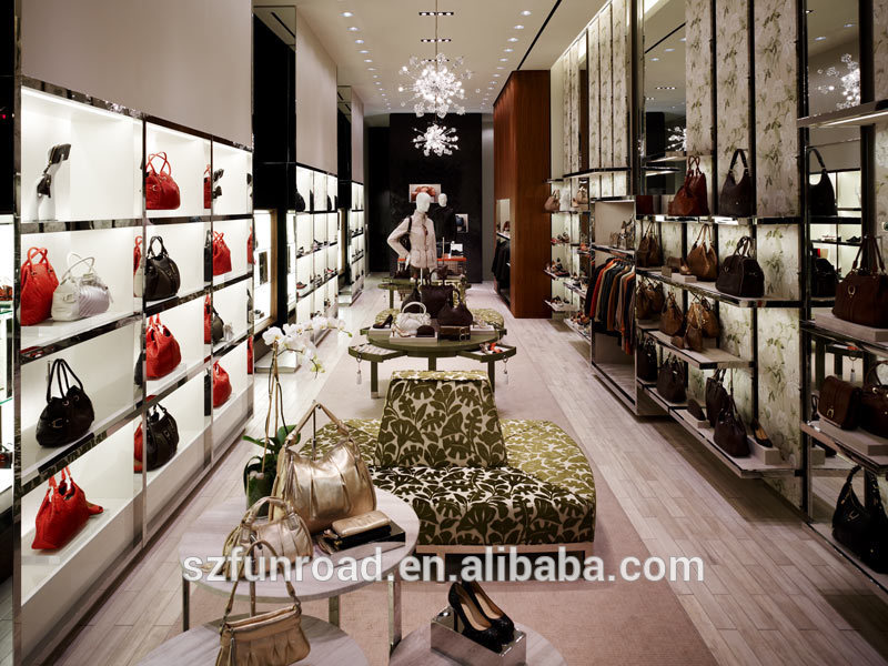Famous Brand Bag Store Counter/vitrine For Clothes Store Interior ...