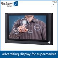 Flintstone 7 inch lcd display screen usb flash drive update, hot ad player, indoor touch screen lcd advertising player