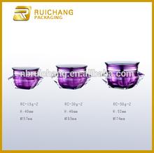 15g/30g/50g acrylic cream jar, diamond shape acrylic cream jar