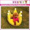 crown shape plush dog cushion luxury princess dog bed