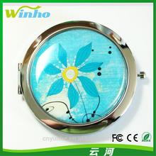 Winho flowers designs metal make up artists mirror