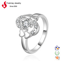 Jewelry display silver ring 325 designs for girl FR419