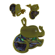 Factory Price Stainless Steel Elephants Jewelry Sets/Elefantes Juego
