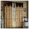 restaurant curtain room dividers, pleated sheer fabric for curtain, mangnolia pattern curtain