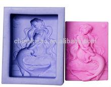 funny silicone soap cake ice coffee mold