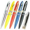 New model waterproof metal pen usb with customized Logo usb flash pen drive 500gb