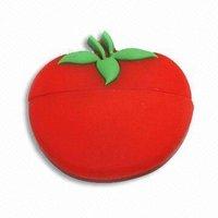 promotion rubber fruit tomato usb flash drive