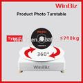 La fotografía 3d eléctrico de rotación de pantalla para 360 grados gira sobre un eje ideal para productos de gran tamaño como, muebles, los modelos de ropa