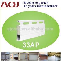 33AP Aluminum Rolling Shutter foam insulated Slats