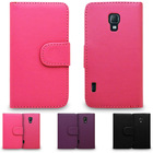 PU Leather Tabby Wallet flip case for lg l7 p710