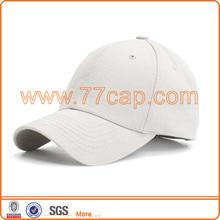 6-Panel Brushed Constructed White Baseball Cap Hat
