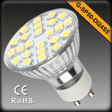led smd spotlight gu10 120V 230V 120 degree dimmable or not EMC LVD RoHS ISO certificates