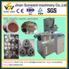 Best selling fish food making plant, DLG single screw extruder, fish farming equipment