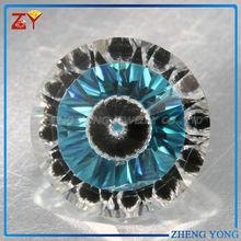 Round Fancy Colored Evil Eye Cubic Zirconia Gemstone