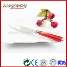 2014 nuevo diseño de acero inoxidable cuchara tenedor cuchillo C010 niños de plástico de cuchillos