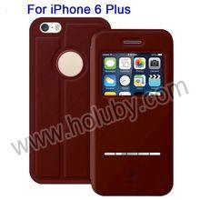 Baseus Smart Sliding Flip Genuine Leather Case for iPhone 6 Plus, Leather Phone Case