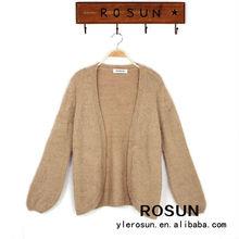 Brown No Button Cardigan Women Winter Sweater 2012