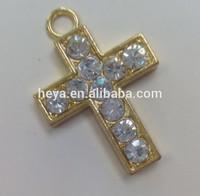 2015 new crystal Christian cross pendant charm