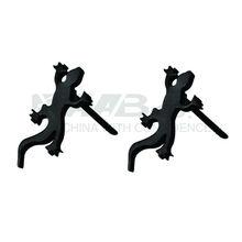 Black Lizard Earrings Stud Earrings Stainless Steel Jewelry