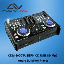 CDM-500CTUSB Dong Guan Manufacturer supply Professional DJ CD/USB/SD/MP3 Mixer Player