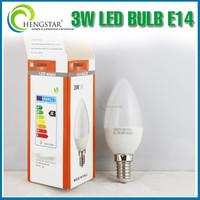 new arrival led bulb e14, high quality candle torpedo shape led bulb e14, 3w c30 e14 led bulb
