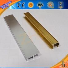 Hot! Large whole aluminium decoratinal profile, aluminum corner tile trim in oem aluminium extruded profile