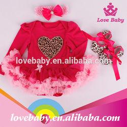 Hot pink children dress infant valentines clothing LBE4091967