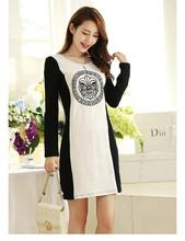 Plus Size Women XL-5XL Dress 2015 Autumn Long Sleeve Clothing Big Size Lady Winter Base Clothes Brand Full Figure Fat Women